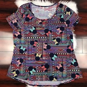 LuLaRoe Classic T Disney Minnie Mouse Shirt Aztec